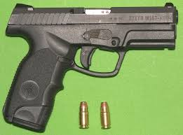 357 SIG has a distinctive look, with the necked down casing